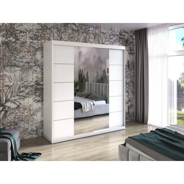 Kleiderschrank BASTER V 200 cm mit Spiegel und Schiebetürenschrank